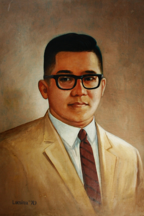 A portrait of Benigno S. Aquino, Jr. at the Tarlac Provincial Capitol.
