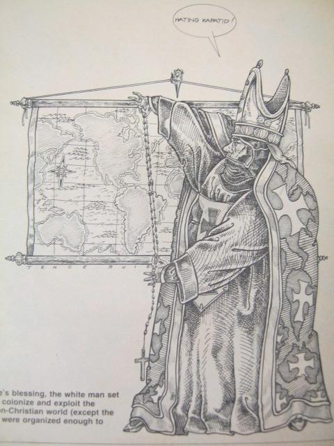 """Hinati ng Papa Alejandro VI ang mundo para sa Espanya at Portugal sa papal bull na """"Inter Caetera.""""  Dahil Espanyol siya, kinailangan muling mag-usap sa Tordesillas upang ayusin ang paghahati,"""