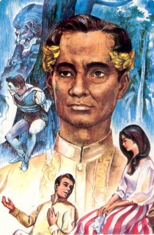 Sikat na paglalarawan sa postcard kay Francisco Baltazar aka Balagtas