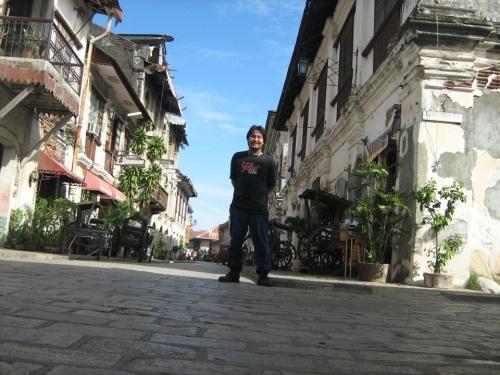 Calle Crisologo, heritage Village sa Vigan, Ilocos Sur.  Mula sa Sinupan ng Aklatang Xiao Chua.