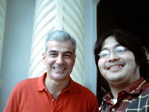Si Xiao Chua kasama si Don Fernando Zobel de Ayala, Quiapo Church, 2005.