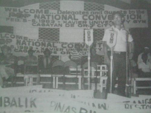 Unang Pambansang Kumbensyon ng PDP sa Cagayan de Oro, 1983.