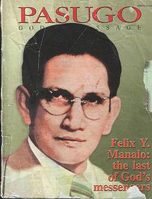 Pabalat ng Pasugo na may larawan ng Ka Felix Manalo.