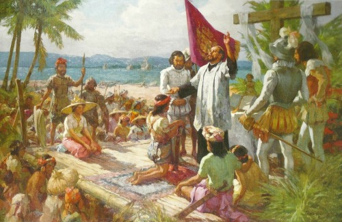 """The first baptism in the Philippines"" ni Fernando Amorsolo.  Regalo ng Insular Life Assurance Co. sa Ayala Museum."