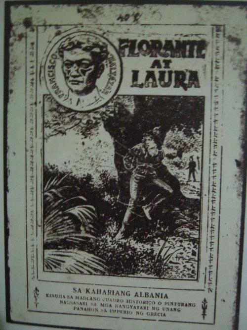Pabalat ng isang lumang edisyon ng Florante at Laura.  Mula sa 200 Taon ni Balagtas.
