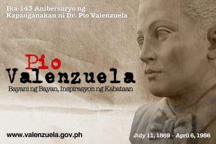 05 Pio Valenzuela Bayani ng Bayan, Inspirasyon ng Kabataan