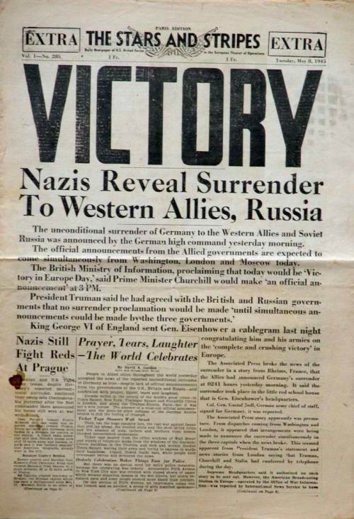 Tagumpay sa Europa, 1945.