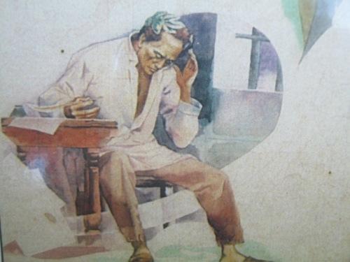 Balagtas.  Obra maestra ni Botong Francisco.  Studies para sa History of Manila mural sa City Hall ng Maynila.  Mula sa Himalay.