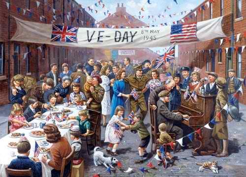 Pagdiriwang ng Victory in Europe Day.