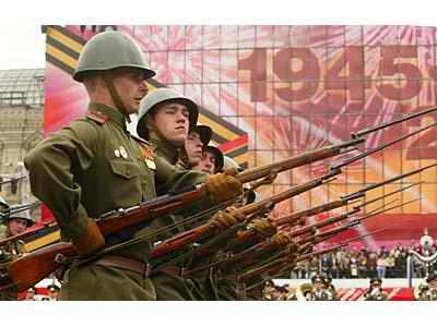 Pagdiriwang ng Victory in Europe Day sa Red Square ng mga Ruso.