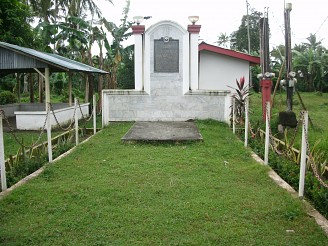 Ang sayt ng unang pinaglibingan kay Emilio Jacinto sa Sta. Cruz, Laguna