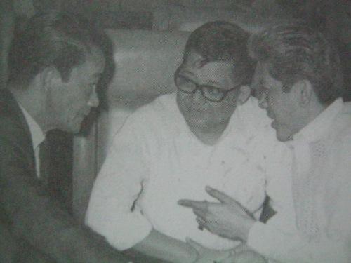 """Si Gerry kasama ang mga kapwa senador Sergio """"Serging"""" Osmena, Jr. at Benigno """"Ninoy"""" Aquino, Jr."""