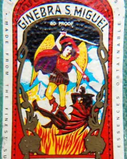 Ginebra San Miguel Marca Demonio ni Fernando Amorsolo.