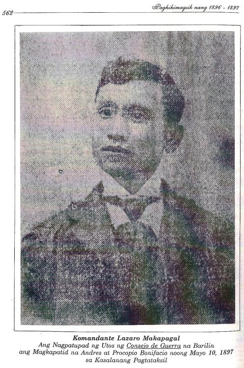 Lazaro Makapagal, mula kay Isagani Medina.