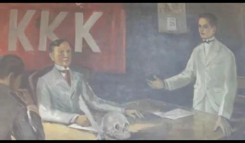 Si Pio Valenzuela bilang manggagamot ng Katipunan.  Nakasabit sa Museo Valenzuela.