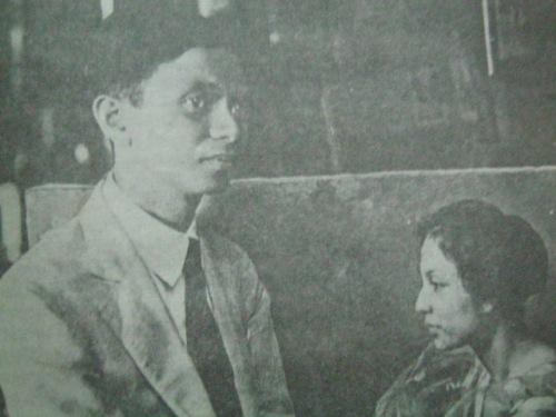 Fernando Amorsolo at isang obra na nagpapakita ng kanyang unang asawa.  Mula kay Dr. Ambeth Ocampo/