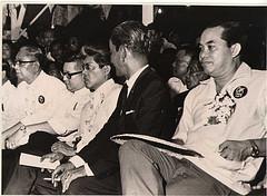 Sa isang rali ng Partido Liberal--Ninoy, Gerry, Serging at Jovy.