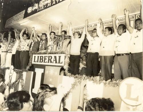 Ang rali ng Partido Liberal sa Plaza Miranda, August 21, 1971.