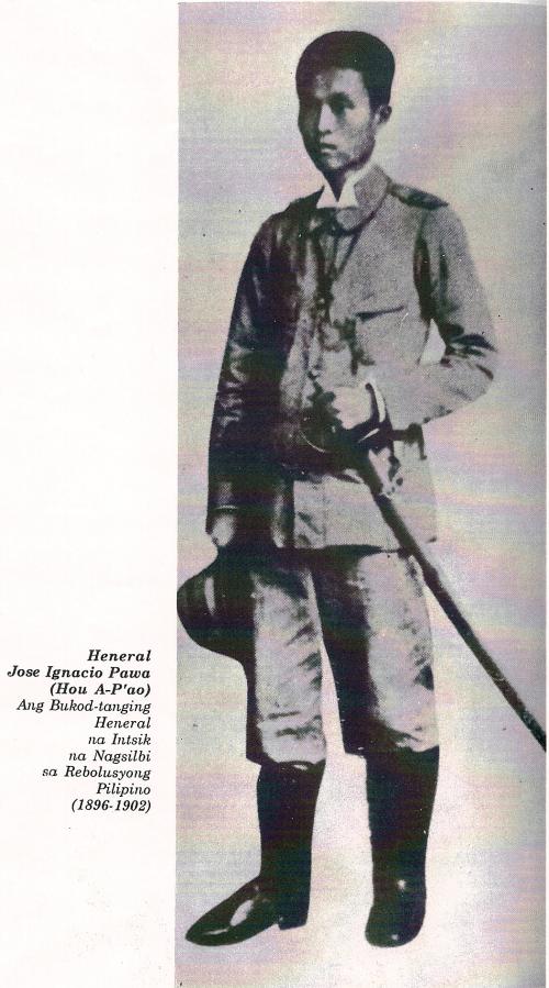 Ignacio Paua, ang tanging purong suging Tsino sa Himagsikang Pilipino.  Tapat na tauhan ng pamahalaan ni Emilio Aguinaldo.
