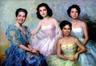 Studies para sa mga portrait ng Pamilya Lacson.