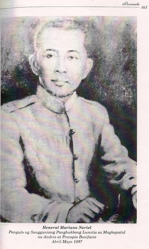 Mariano Noriel.  Mula kay Isagani Medina.