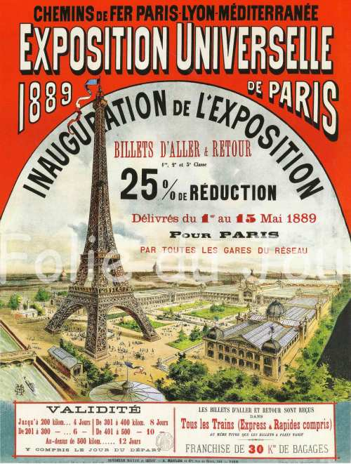 Paris Universal Exposition, 1889.