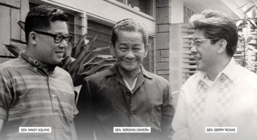 Si Ninoy, Serging at Gerry.