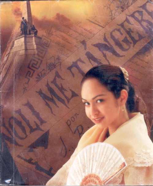Isang modela bilang si Maria Clara.  Mula sa isang lumang kalendaryo ng Petron 1998.