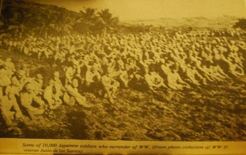 Ang mgasumukong sundalomng Hapones sa Cebu.  Mula kay Col. Manuel Segura.