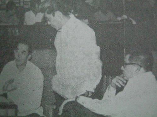 Si Gerry kasama si Jovy Salonga at Ninoy Aquino sa Senado.  Mula kay Senador Jovito Salonga.