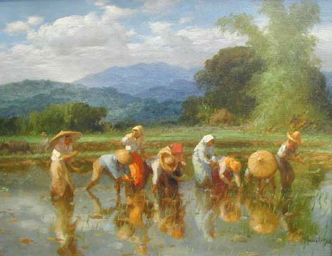 Rice Planting, iba-ibang bersyon.  Kaloka.