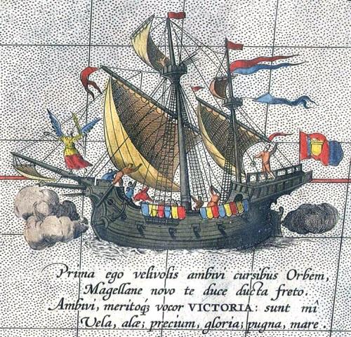 Victoria, ang tanging barko sa ekspedisyon ni Magellan na nakabalik ng Espanya.  Ang unang barko na umikot sa buong daigdig.