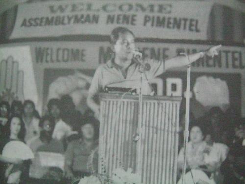 Matapos magsalita sa tagpong ito, napatalsik si Pimentel sa Batasan, 1984.