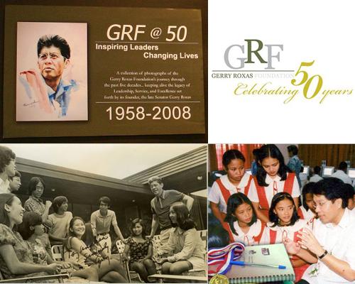 Gerry Roxas Foundation noon at ngayon. Mula sa Gerry Roxas Foundation
