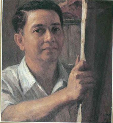 Ipininta ni Amorsolo ang kanyang sarili.  Nag-wan ng malaking pamana sa Sining sa Pilipinas.