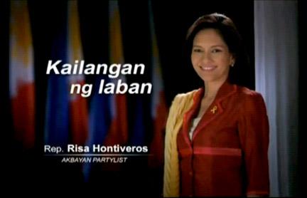 Si Risa bilang kinatawan ng Akbayan.