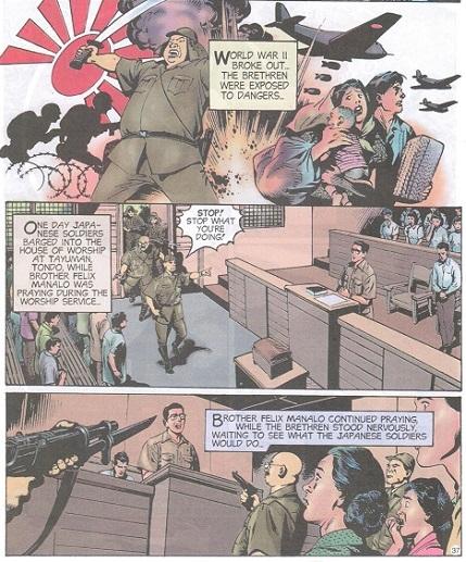 Guhit ni Nestor Malgapo, Sr. sa LIWANAG komiks.