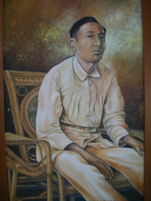 Ang Dakilang Lumpo.  Obra maestra na nakasabit sa Dambanang Pangkasaysayang Mabini sa Tanauan, Batangas.