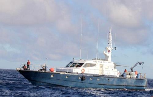 Iang bapor ng Philippine Coast Guard sa Balintang Channel sa Batanes.
