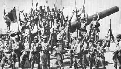 Ang mga Hapones, kung maka-banzai ay wagas matapos ang pagbagsak ng Corregidor sa Battery Hearn.