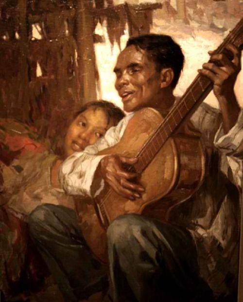 Nagbibigay ng ginhawa sa nasa loob ng bahay.  El Ciego (The Blind Man), 1929.  Obra maestra ni Fernando Amorsolo.