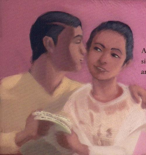 Si Andres at Oriang.  Obra ni Joel Jason O. Chua para sa Adarna.