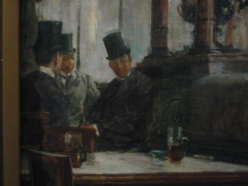 """Si Jose Rizal, Juan Luna at Ariston Bautista-Lin, detalye ng """"Parisian Life"""" ni Juan Luna.  Nasa Koleksyong GSIS sa Pambansang Tipunan ng Sining ng Pambansang Museo ng Pilipinas.  Kuha ni Xiao Chua."""