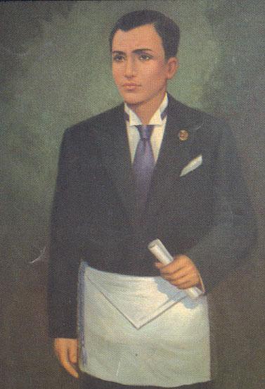 Paglalarawan kay Bonifacio bilang miyembro ng Masoneriya.