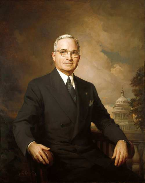 Ang official White House portrait ni Pangulong Harry S. Truman.