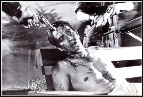 Ang pagpapahirap kay Moises Padilla, na ginaganapan ni Leopoldo Salcedo sa The Moises Padilla Story, isang pelikula na ipinalabas noong 1961.  Ang pumatay kay Padilla ay ginanapan ni Joseph Estrada.  Para sa karagdagang impormasyon tingnan ang bahay-dagitab ng Video 48.