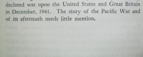 """Pahina nang tanging pagbanggit ng Digmaang Pasipiko sa """"History of Japan."""""""