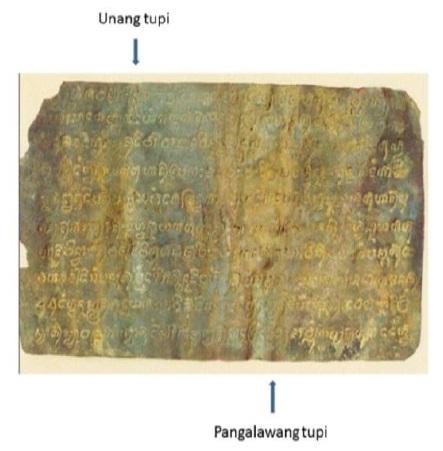 Mula kay Jaime Figueroa Tiongson:  Ang mga tupi ng Binatbat na Tanso ayon kay Romana Legisma na siyang nag-unat nito.