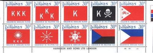 "Mga selyong ""Evolution of the Philippine Flag,"" 1972"