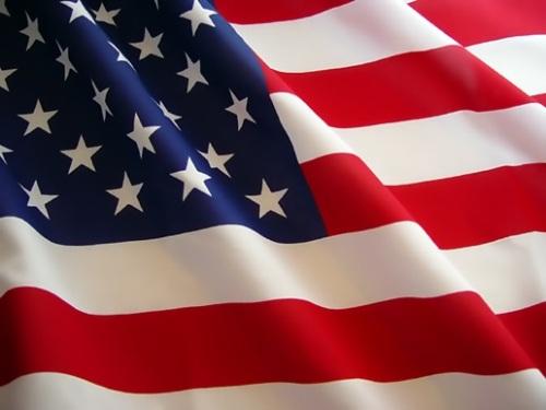Ang bandila ng Estados Unidos ng America.